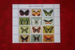 Surinam / Suriname 2012 Vlinders Butterflies Papillons (ZBL 1862-1872 Mi -  Yv -) POSTFRIS / MNH ** - Surinam
