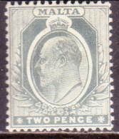 MALTA 1911 SG #51 2d MLH Part Gum Grey - Malta (...-1964)