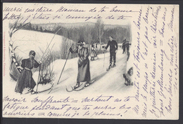 NORVEGE -  Carte Postale  De Christiana écrite En 1904 - Sport De Neige - ED. Grimsgaerd & Bretteville - T. Bon Etat - - Norvège