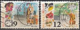 Belgique 1986 COB 2200 - 2201 O Cote (2016) 0.65 Euro Folklore Carnaval à Alost Et Binche Cachet Rond - Belgium