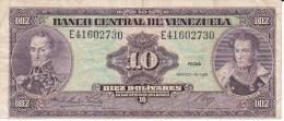 BILLETE DE VENEZUELA DE 10 BOLIVARES DEL AÑO 1986  (BANK NOTE) - Venezuela