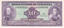 BILLETE DE VENEZUELA DE 10 BOLIVARES DEL AÑO 1990 CALIDAD EBC (XF)  (BANK NOTE) - Venezuela