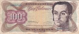 BILLETE DE VENEZUELA DE 100 BOLIVARES DE MAYO-12-1992 (BANKNOTE) - Venezuela