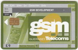 GUERNSEY ISL. - Service Telecom 3/GSM/Development, Chip Siemens 30, Used