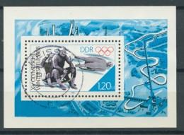 BL6-251 DDR, EAST GERMANY MI M/S,BLOCK 90 SPORT, OYMPICS CALGARY 1988. USED, OBLTERE, GEBRUIKT. - [6] Oost-Duitsland