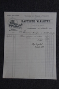 Facture Ancienne, CASTELNAUDARY , Baptiste VIALETTE, Voitures De Remise à Volonté, Omnibus, Char Funèbre. - 1800 – 1899