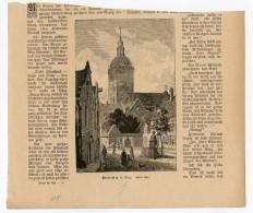 Riga Latvia Gravure Engraving 1886 - Latvia