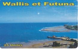 TARJETA DE WALLIS ET FUTUNA DE 25 UNITES DEL AÑO 2014 - Wallis-et-Futuna