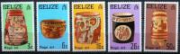 Belize - 1975 - Vases Maya - Neufs - Arqueología