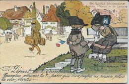 CP -   Illustration Maréchaux -   En Alsace Reconquise Départ De L'Envaisseur - Illustrators & Photographers
