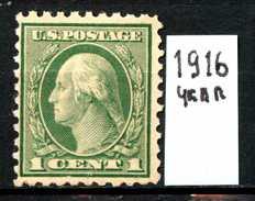 STATI UNITI - U.S.A. - Year 1916 - Nuovo - News .-no Gum. - Nuovi
