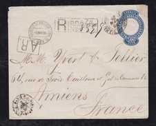 Brazil 1894 EN 51 Stationery Registered PARA To France - Entiers Postaux