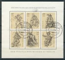 BL6-270 DDR, EAST GERMANY KLB MI 2347-2352 ART, KUNST. USED, OBLTERE, GEBRUIKT. - Blokken