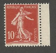 FRANCE - N°YT 134 NEUF** SANS CHARNIERE AVEC BORD DE FEUILLE - COTE YT : 4.60€ - 1906 - 1906-38 Semeuse Camée