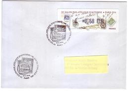 ATM, LISA1, Pli, E 0,68€, FDC 3/11/2016, 140ème Anniversaire Du Timbre Type Sage. 70éme Salon Phil. D'AUTOMNE, PARI - 2010-... Illustrated Franking Labels