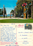Stanley Park Totem Poles, Vancouver, British Columbia, Canada Postcard Posted 1976 Stamp - Vancouver