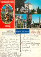 Thunderbird Park, Victoria, British Columbia, Canada Postcard Posted 1984 Stamp - Victoria