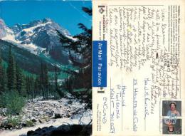 Terminal Peak, Glacier National Park, British Columbia, Canada Postcard Posted 1993 Stamp - Other