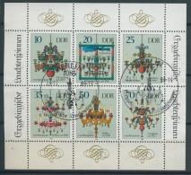 BL6-278 DDR, EAST GERMANY KLB MI 3289-3294 LEUCHTERS, CANDELS. USED, OBLTERE, GEBRUIKT. - [6] Oost-Duitsland