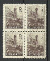 1941 Okkupation Estland Estonia 4-Block MNH - Occupation 1938-45
