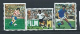 Paraguay 1986 Soccer World Cup Mexico Airmail Set 3 MNH - Paraguay