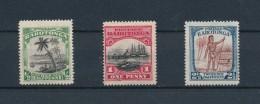 RAROTONGA 1920 : 3 Stamps 1/2D, 1D, 2&1/2D * MLH (n° Yvert 14, 15, 27) - Cook