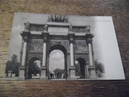 CPA De Paris - L´Arc De Triomphe De La Place Du Carrousel - Cacao Bensdorp, Amsterdam - Carte Animée - Arc De Triomphe