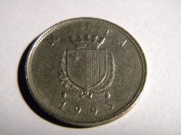 MALTE - 25 CENTS 1993. - Malte (Ordre De)