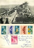 San Marino, Italy RP Postcard Posted 1955 SAN MARINO Stamp - San Marino
