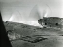 France Aviation Avion En Vol Nuages Ancienne Photo 1960 - Photographs