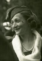 France La Mode Aux Courses Dame Elegante French Fashion Ancienne Photo 1920'