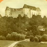 France Chateau Sur Une Colline A Identifier Anciennt Photo Stereo Tissue 1870' - Stereoscopic