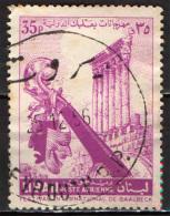 LIBANO - 1956 - BAALBEK: TEMPIO DEL SOLE - COLONNATO - USATO - Libano