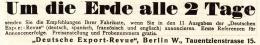 Original-Werbung/ Anzeige 1909 - DEUTSCHE EXPORT - REVUE  - BERLIN - Ca. 140 X 25 Mm - Publicités