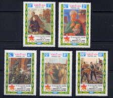 LAOS - 798/802** - 70è ANNIVERSAIRE DE LA REVOLUTION D'OCTOBRE - Laos