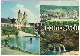 LUSSEMBURGO - LUXEMBOURG - 19?? - Missed Stamp + Flamme Echternach Pour Vos Vacances - Echternach - Multivues - Viagg... - Echternach