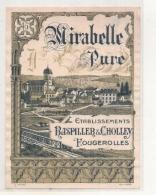 - étiquette 1952550* - Mirabelle Pure Raspiller Et Cholley - Fougerolles - - Etiquettes