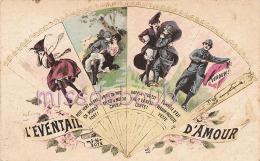 MILITAIRE - Illustration - Humour - Couples - Eventail D'Amour -2 Scans - Humoristiques