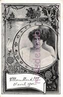 PORTRAIT FEMME - Epaule Dénudée - Coiffure - En Médaillon - Illustration Cygne  - 1901 - Dos Précurseur - 2 Scans - Women