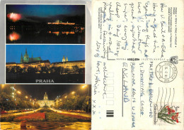 Praha, Czech Republic Postcard Posted 1991 Stamp - Czech Republic