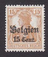 Belgium, German Occupation, Scott #N15, Mint Hinged, Germania Surcharged, Issued 1916 - [OC38/54] Occ. Belg. In Ger.