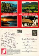 Multiview, Northern Ireland Postcard Posted 1990s Stamp - Irlande Du Nord