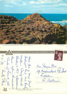 Giant's Causeway, Northern Ireland Postcard Posted 1970s Stamp - Irlande Du Nord