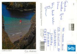 Carrick-a-Rede, Northern Ireland Postcard Posted 1997 Stamp - Irlande Du Nord