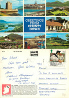 County Down, Northern Ireland Postcard Posted 1988 Stamp - Irlande Du Nord