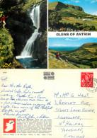 Glens Of Antrim, Northern Ireland Postcard Posted 1969 Stamp - Irlande Du Nord