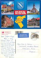 Rybnik, Poland Postcard Posted 2001 Stamp - Polonia