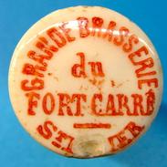 BOUCHON EN PORCELAINE GRANDE BRASSERIE DU FORT CARRE ST DIZIER - Bière