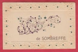 Sombreffe - Bonjour De ... Jolie Fantaisie En Relief Et Décorée De Brillants - 1908 ( Voir Verso ) - Sombreffe