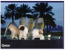 (219) Qatar - Doha Water Pot Fountain - Qatar